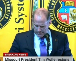 Racial Injustice Protests Win. University of Missouri President Tim Wolfe Resigns