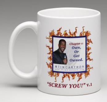 """""""SCREW YOU!"""" v.1 Book, Chapter 1 Mug (Front)"""