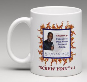 """""""SCREW YOU!"""" v.1 Book, Chapter 4 Mug (Front)"""