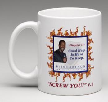 """""""SCREW YOU!"""" v.1 Book, Chapter 11 Mug (Front)"""