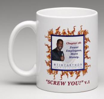 """""""SCREW YOU!"""" v.1 Book, Chapter 18 Mug (Front)"""
