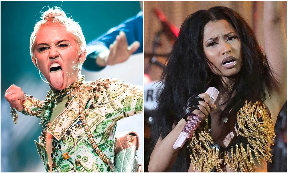 Miley Cyrus and Nicki Minaj