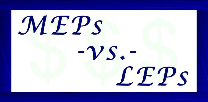 MEPs -vs.- LEPs
