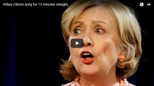 Hillary Clinton Lying for 13 Minutes
