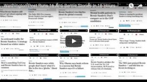 Bernie Sanders - 16 Negative Articles in 16 Hours