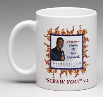 """SCREW YOU!"" v.1 Book, Chapter 1 Mug (Front)"
