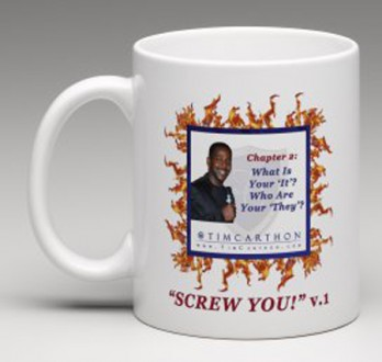 """SCREW YOU!"" v.1 Book, Chapter 2 Mug (Front)"