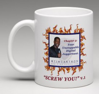 """SCREW YOU!"" v.1 Book, Chapter 3 Mug (Front)"