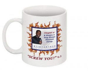 """SCREW YOU!"" v.1 Book, Chapter 4 Mug (Front)"
