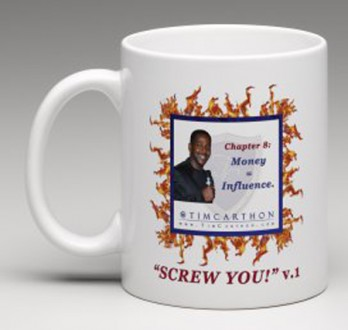"""SCREW YOU!"" v.1 Book, Chapter 8 Mug (Front)"