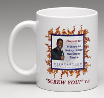 """SCREW YOU!"" v.1 Book, Chapter 12 Mug (Front)"