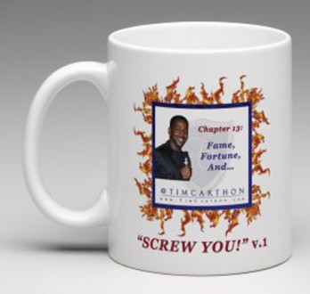 """SCREW YOU!"" v.1 Book, Chapter 13 Mug (Front)"