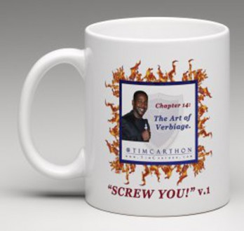 """SCREW YOU!"" v.1 Book, Chapter 14 Mug (Front)"