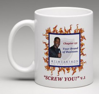 """SCREW YOU!"" v.1 Book, Chapter 15 Mug (Front)"