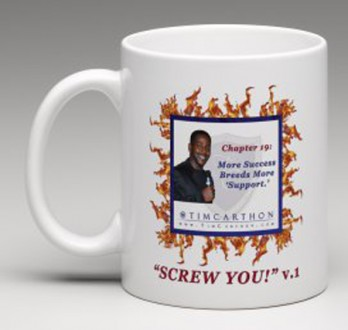 """SCREW YOU!"" v.1 Book, Chapter 19 Mug (Front)"