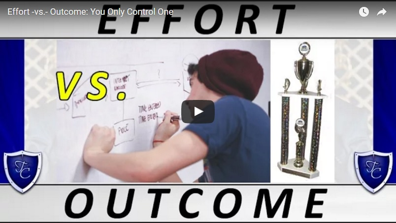 00114 - Effort -vs.- Outcome - You Only Control One