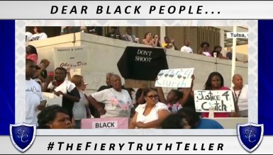 Dear Black People: STOP PROTESTING! (VIDEO)